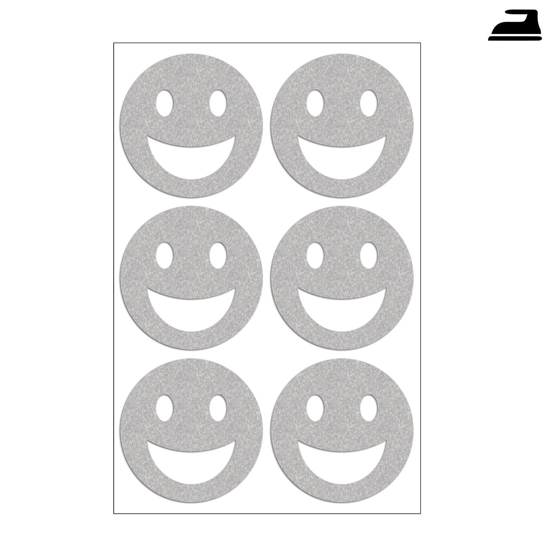 Bügelbild Set reflektierende Smileys