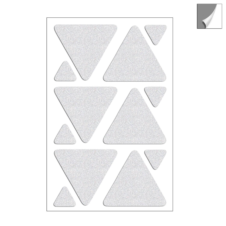 Aufkleber Dreiecke reflektierend