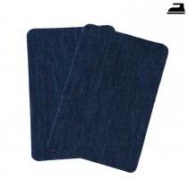 Bügelflicken Jeans dunkelblau