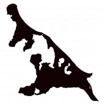 Insel Usedom als Inselaufkleber für das Auto