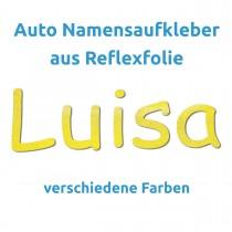 Autoaufkleber mit Namen