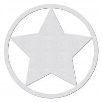 Reflektierender Stern mit Kreis zum Aufkleben
