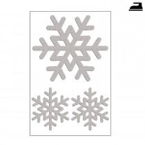 Reflektierende Schneeflocken zum Aufbügeln