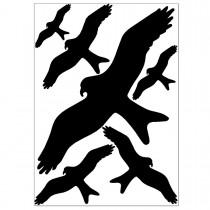 Vogel Scheibenaufkleber gegen Vogelschlag an Glasscheiben.