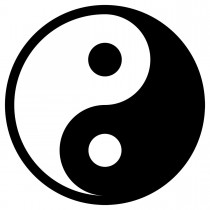 Yin Yang Sticker zum Aufkleben