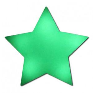 Phosporisierender Sticker Stern