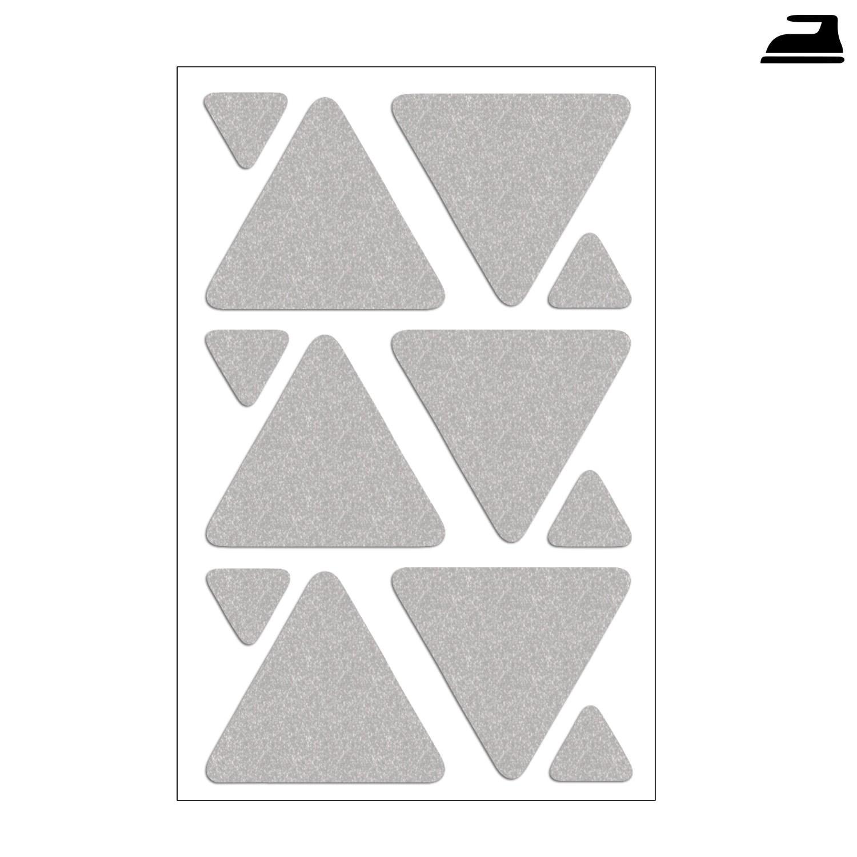Bügelbild reflektierende Dreiecke im Set
