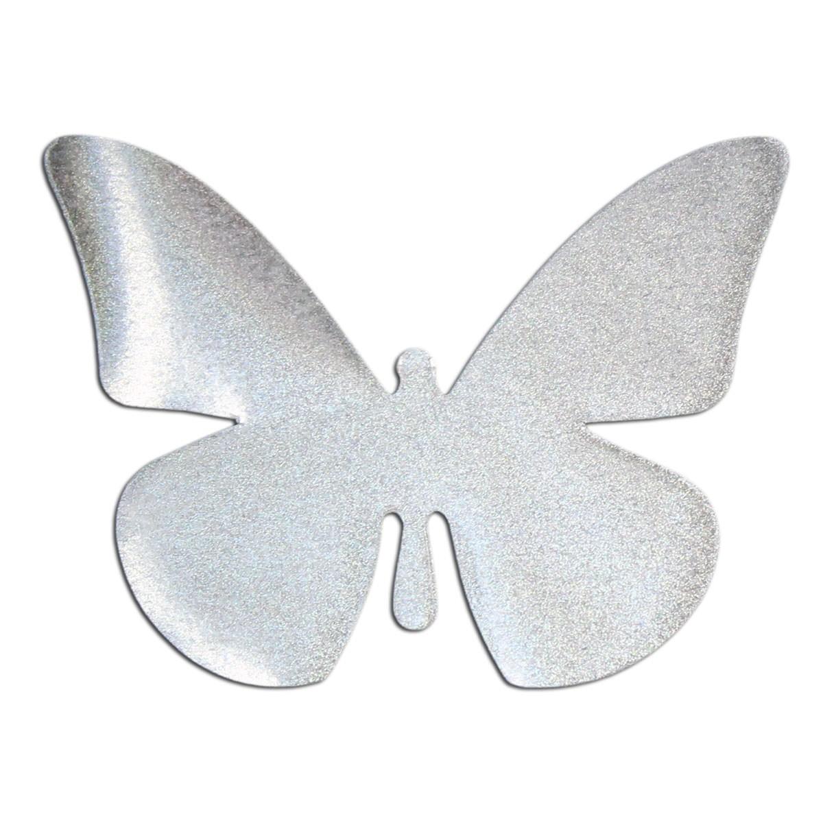 Reflektor Aufbügler Schmetterling silber