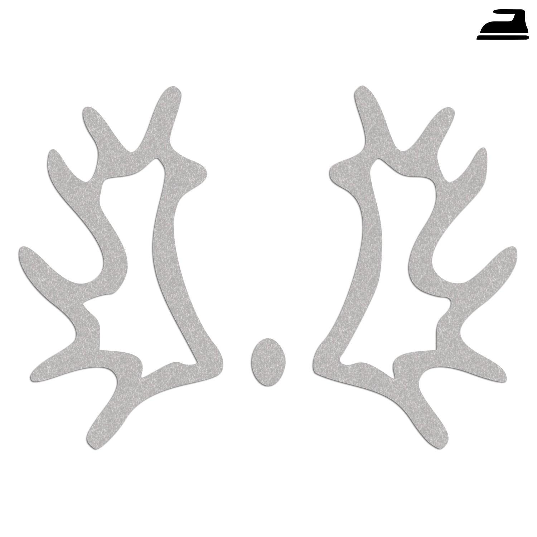 Trakehner Brandzeichen Bügelbild reflektierend