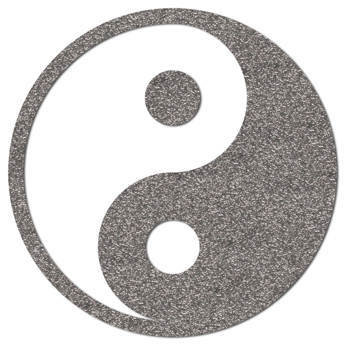 Yin Yang Motiv zum Aufbügeln aus reflektierender Bügelfolie