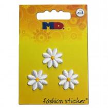 Aufbügler Blüten weiß 3 Stück