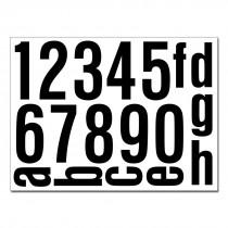 Hausnummern zum Aufkleben aus Folie
