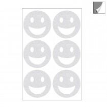 Smiley Reflektoren Aufkleber Set