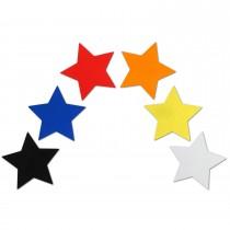 Reflektor Aufkleber Sterne bunt