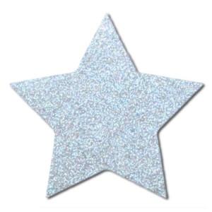 Stern Reflektor Aufbügler für Kinderkleidung aus Nylon Stoff